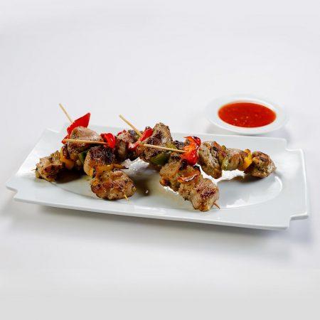 Bites - Pork Pimento Kebabs