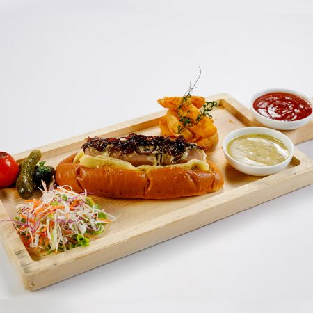 Signature hot dog