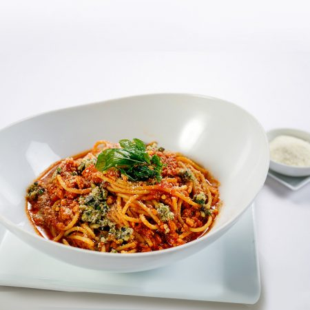 Spaghetti with Chicken Bolognese Sauce