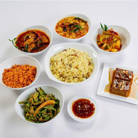 Sri Lankan Yellow Rice Set Meal Chicken