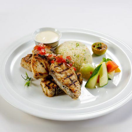 Grilled fillet of white fish